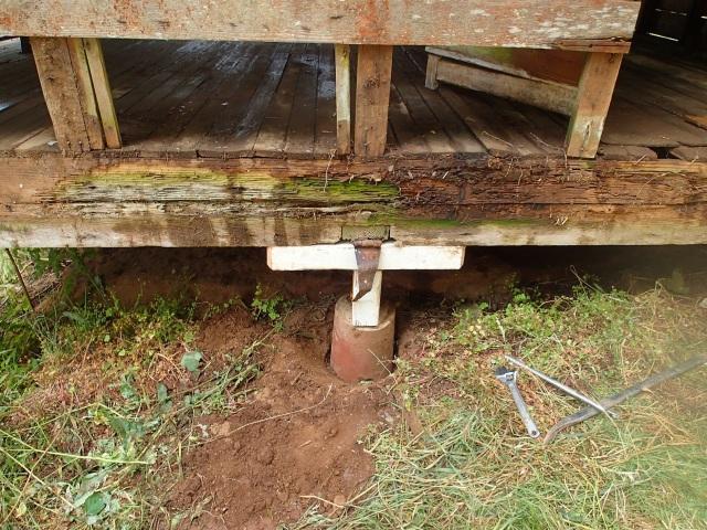 shoring up the coop floor
