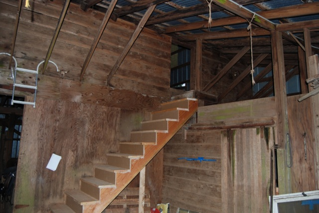 new barn stairs